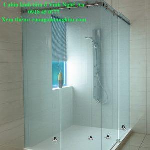 phòng tắm kính ở vinh nghệ an