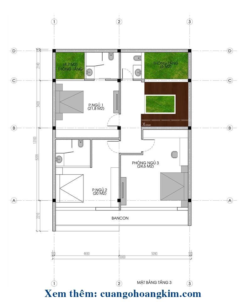 mẫu nhà 4 tầng thiết kế đẹp